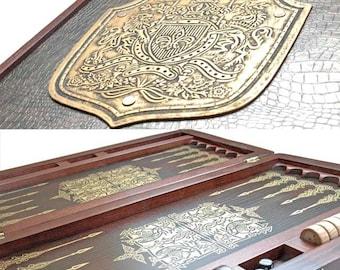 "20"" LUXURY HQ Handcarved wooden BACKGAMMON board"