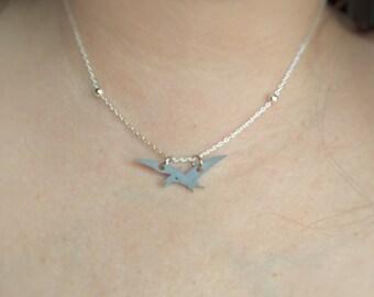 Pterodactyl Necklace | Dinosaur Necklace | Silver Pterodactyl Necklace | Shrinky Dink Necklace | Dinosaur Charm Necklace| Silver Dinosaur