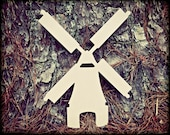 Windmill Unfinished Wooden Craft Shape, Do-It-Yourself