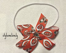 Cincinnati Reds Bow Headband
