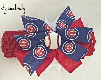 Chicago Cubs Bow Headband