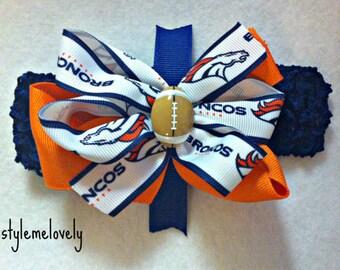 Denver Broncos Bow Headband