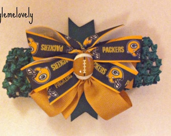 Green Bay Packers Bow Headband