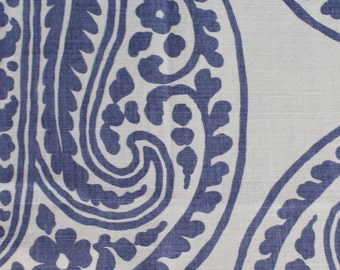 "Raoul Textiles ""Mira"" Hand Printed Linen Drapery Panels"