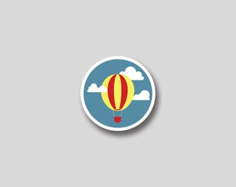 INSTANT DOWNLOAD Hot Air Balloon favor tag, cupcake topper, sticker -  DIY Printable