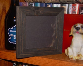 solid cedar wood 6x6 picture photo craft frame dark finish country rustic display