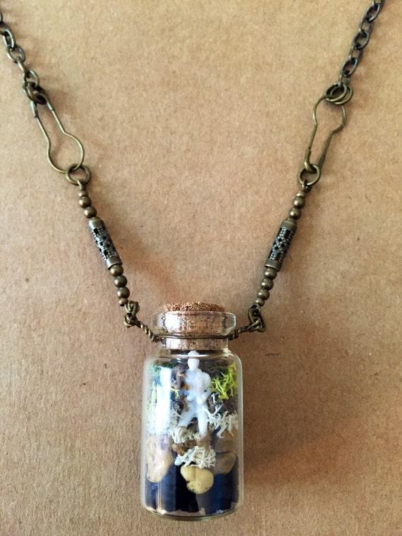 Terrarium pendant necklace