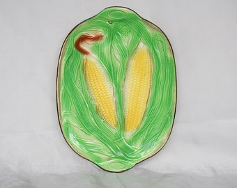 Corn on the Cob Platter - Corn Plate - Vintage Serving Platter - Harvest Decor - Housewarming Gift - Country Kitchen Decor - Summer Decor