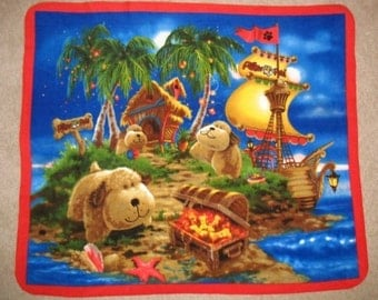 Pillow Pet Snuggly Puppy  Panel Fleece Throw Blanket