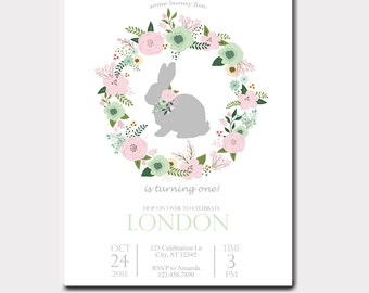 Some Bunny Birthday Invitation | Some Bunny Is Turning One