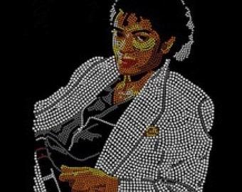 "Michael Jackson ""Thriller"" Rhinestone Heat Transfer (Garment Not Included)"