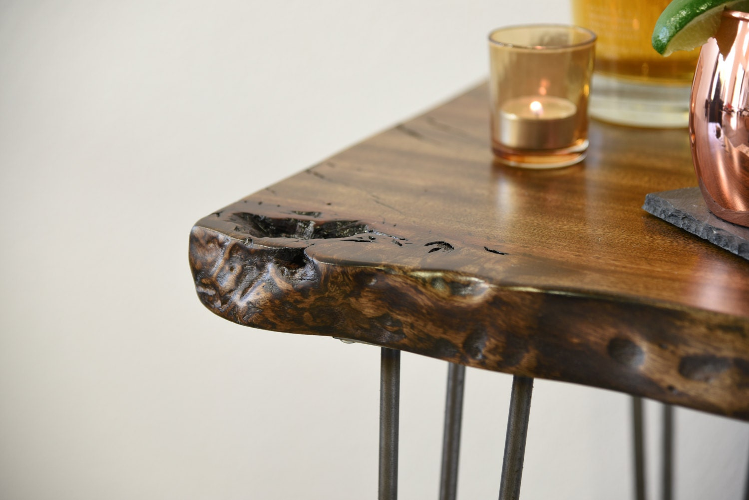 Reclaimed live edge buffet console table desk by