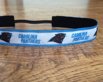 Carolina Panthers headband. Women's Panther headband, girls Panthers headband, Panthers hair accessory, non-slip headband, football headband