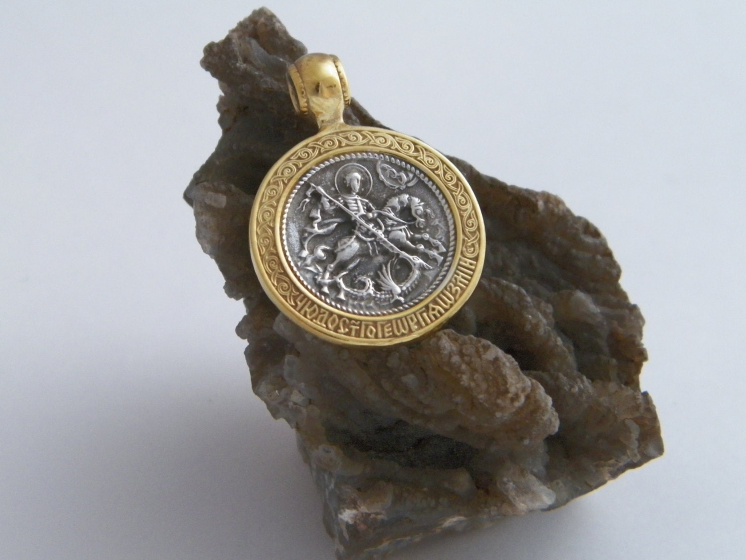 pre yellow st dragon image george jewellery amp owned coin pendant gold style