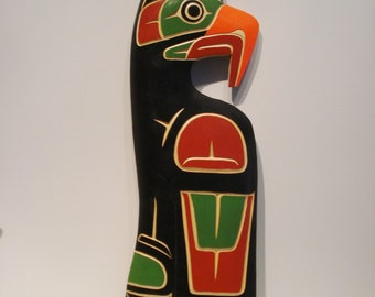 Northwest Coast Native Art LARGE Thunderbird PANEL SCULPTURE
