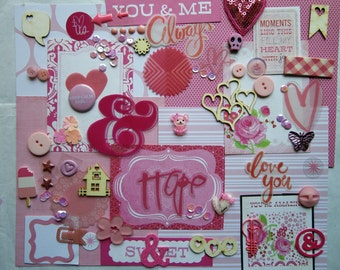 A pink mini scrapbooking kit...