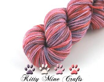 100% Superfine Merino Aran Yarn - OOAK - 100g, 180yd/ 165m - Hand Dyed - Knitting, Crochet - Wool Yarn