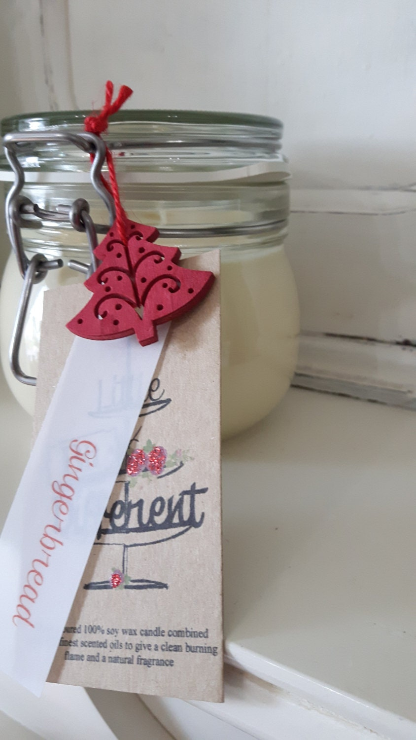Apple strudel scented hand poured beautiful  eco friendly vegan soy wax candles in reusable Kilner style jars.