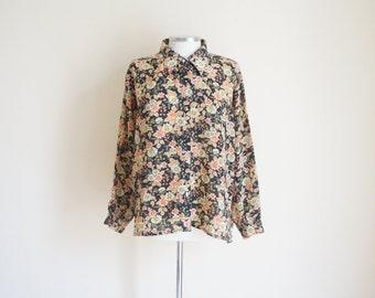 Vintage 1970s Floral Blouse