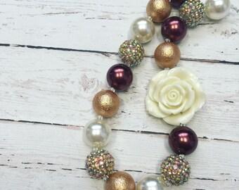 fall golden bubblegum necklace