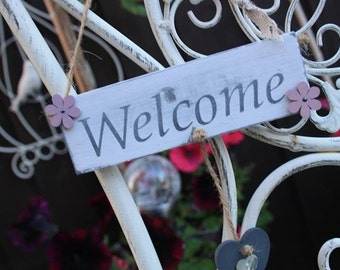 Welcome Sign/Plaque Shabby Chic
