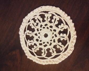 Lace Crochet Coaster set of 4