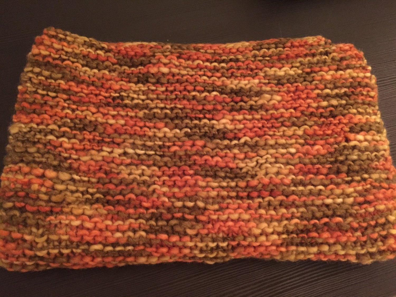 Knit Blanket Stroller Blanket Lap Blanket Lovie Orange