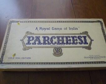 Vintage Parcheesi Game