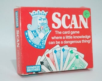 Scan Card Game Parker Brothers 1988 COMPLETE (read description)