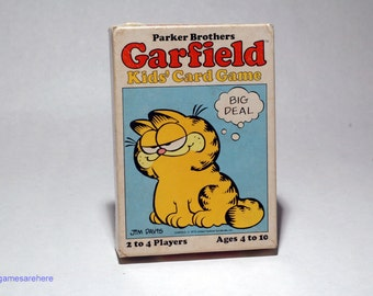 Garfield Kid's Card Game from Parker Brothers 1982 COMPLETE (read description)