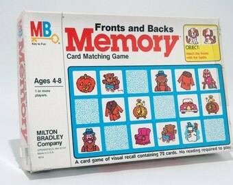 Fronts and Backs Memory Matching Game from Milton Bradley 1980 COMPLETE (read description)