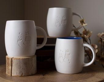Adorable Panda Bear / Moonbear / Animal / Deep Etch / Coffee Mug / Tea Mug / Ceramic Mug
