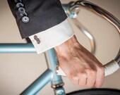 Bike Chain Cufflinks - Bicycle Chain Links - Bicycle Cufflinks - Cyclist Gift - Gift for Groom - Wedding Cufflinks - Bike Cufflinks