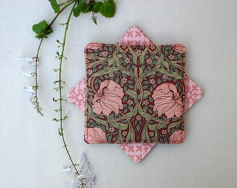 Forget-Me-Not Fabric Coasters - Set of 4,6 or 8 - Floral Cloth Coasters