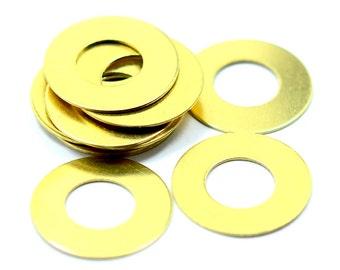 50 Pcs. Raw Brass 16 mm Round Circle Findings