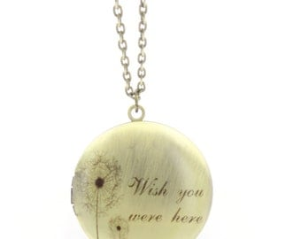 Wish you were here amulet necklace