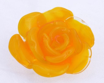 Yellow rose focal bead or pendent