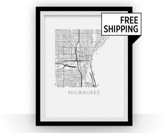 Milwaukee Map Print