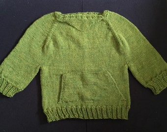 2T Green Pouch Sweater