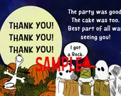 It's The Great Pumpkin Charlie Brown Inspired Thank You Party Card!