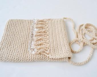 woven bag mini crochet bag