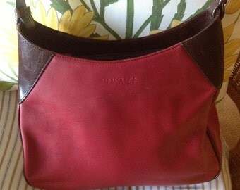 Vintage Kenneth Cole Red Leather Bag