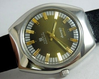 Watch Men's Vintage HMT chirag fine condition two tone dial hand winding 17 Jewels rare excellent condition wrist watch