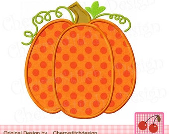 Happy Fall Pumpkin Thanksgiving Pumpkin Machine Embroidery Applique Design TH0019 -4x4 5x5 6x6""