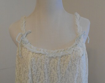 Vintage white lace nightgown - Lisette