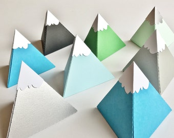paper box pyramid hills snowcap 3,9 x 3 inch - set of 7