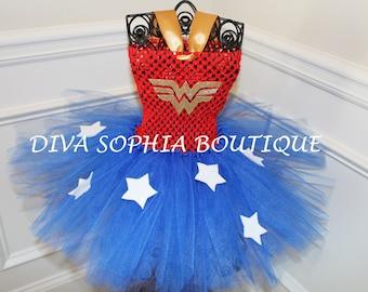 Wonder woman Tutu Dress/ Super hero Tutu Dress/ Costume