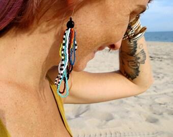 Chelsea Morning- Looped Fringe Seed Bead Earring