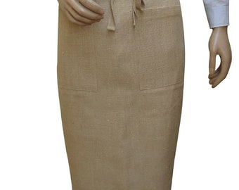 Hessian Apron Half Length With MBR006