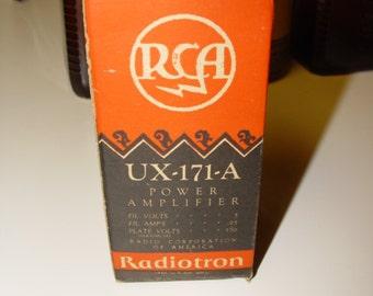 Radiotron RCA UX-171-A POWER Amplifier Original Box & instruction Sheet